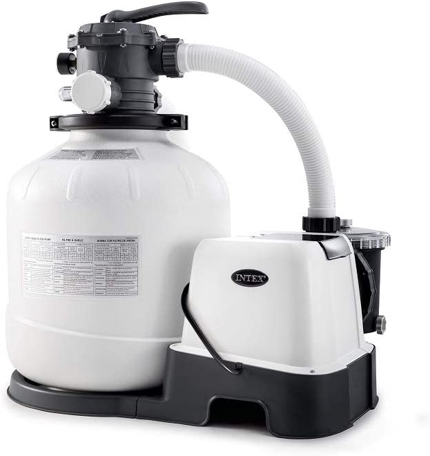 Intex 26679EG Krystal Clear 2150 GPH Pump & Saltwater Sand Filter Saltwater System, Grey