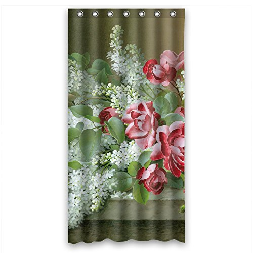 Eyeselect Polyester Bathroom Curtains Of Famous Classic Art Painting Flowers Blossoms For Girls Kids Valentine Artwork Girls. Eco Friendly Width X Height / 36 X 72 Inches / W H 90 By 180 (Blossom Toy Stroller)