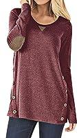 HARHAY Women's Long Sleeve Faux Suede Casual Blouse Tunic Shirt Tops