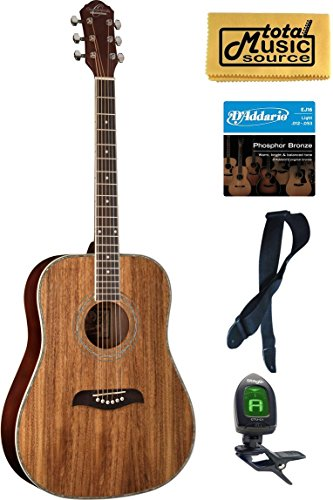 Oscar Schmidt OG2 Dreadnought Acoustic Guitar - Koa Bundle ()