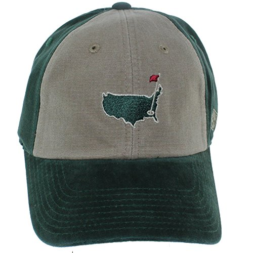 UPC 798698633500, Masters 2018 Golf 1934 Collection Green & Tan Relaxed Fit Slouch Hat Adjustable Official Augusta National