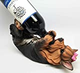 KITCHEN DECOR YORKSHIRE TERRIER YORKIE DOG WINE BOTTLE HOLDER FIGURINE STATUE