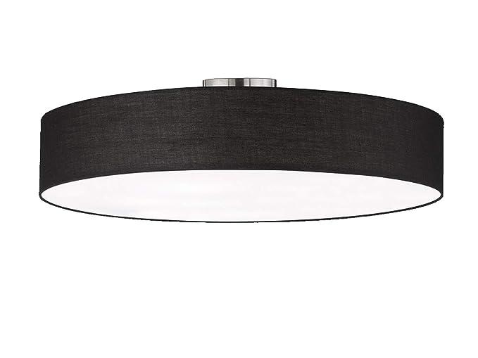 Plafoniere Per Lampade Led E27 : Trio leuchten plafoniera moli moderno metallo tessuto nero