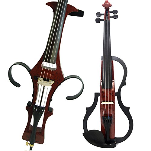 Leeche Handmade Professional Solid Wood Electric Cello 4/4 Full Size Silent Electric Cello-1601 by Leeche