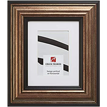 Craig Frames 21307201 20 x 24 Inch Aged Copper and Black Picture Frame Matted to Display a 16 x 20 Inch Photo