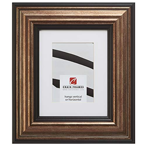 Craig Frames 21307201 20 x 24 Inch Aged Copper and Black Picture Frame Matted to Display a 16 x 20 Inch Photo ()