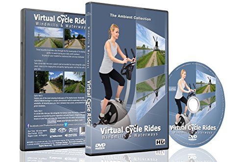 Virtual Cycle Rides - Windmills & Waterways - For Indoor Cycling, Treadmill and Running - For Ipad Video Sunglasses