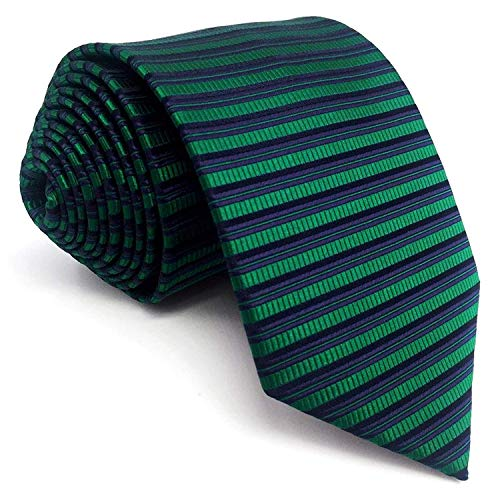 (Shlax&Wing New Horizontal Stripes Neckties Ties For Men Dress XL 63
