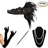 1920s Accessories Set Flapper Costume for Women (S4-5808)