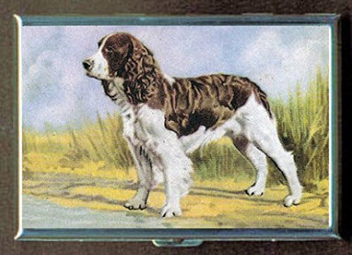 English Springer Spaniel Dog Stainless Steel ID or Cigarettes Case (King Size or 100mm)