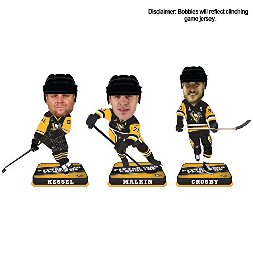 Pittsburgh Penguins 2017 Stanley Cup Champions Mini Big Head BobbleHead 3-Pack -