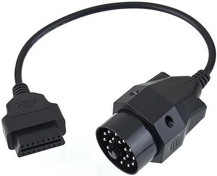 OBD OBD II Adapter for  20 pin to OBD2 16 PIN Female Connector e36 e39 X5 JL