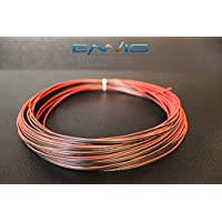24 GAUGE 100 FT RED BLACK SPEAKER ZIP WIRE AWG CABLE POWER STRANDED COPPER CLAD BY ENNIS ELECTRONICS