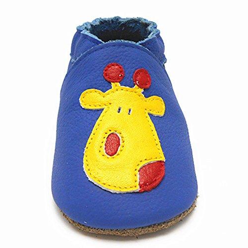 Sayoyo Suaves Zapatos De Cuero Del Bebé Zapatillas ciervos lindos Azul