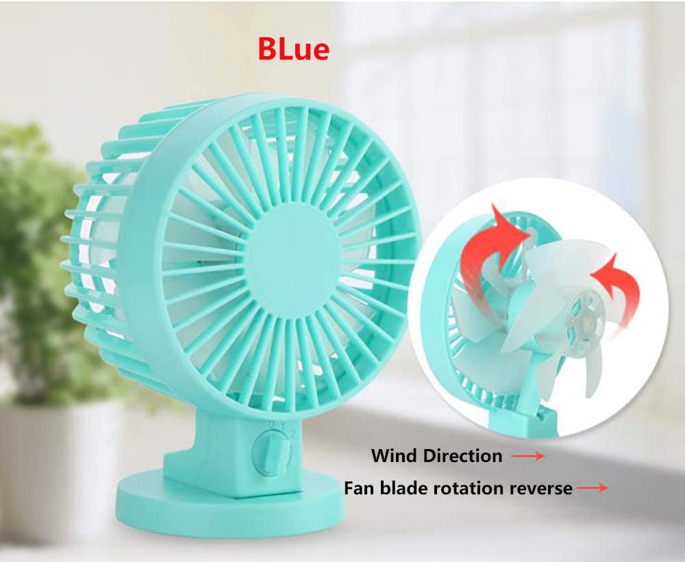 Dual Motor 12 Blades Airline Whirlwind Leaf Ultra Quiet Design Suitable for Home Office Outdoor Travel YXMJ Mini USB Desk Fan