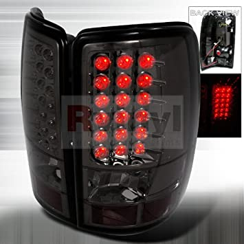 LED Tail Lights - Smoke Made For And Compatible With GMC Yukon / Denali /XL 2000 2001 2002 2003 2004 2005 2006