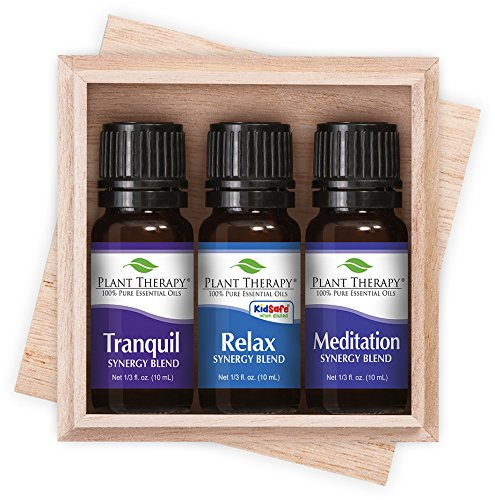 Relaxation Therapy - Plant Therapy Relaxation Synergy Set 100% Pure, Undiluted, Therapeutic Grade