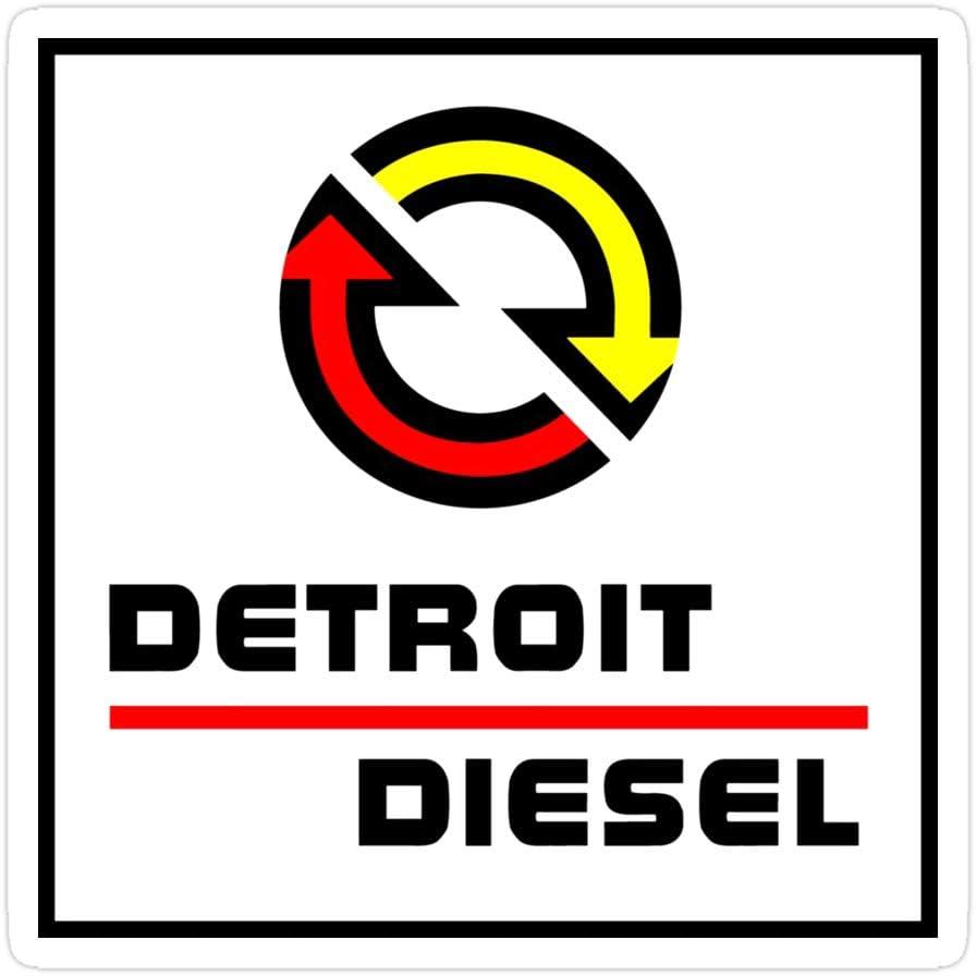 creamrinhz (3 PCs/Pack) Detroit Diesel 3x4 Inch Die-Cut Stickers Decals for Laptop Window Car Bumper Helmet Water Bottle