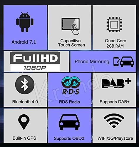 Autoradio Krando Android 8.0/9/Octacore Full touchper Porsche Cayenne 2003/ /2011/WiFi 4/G m/émoire RAM