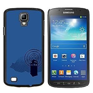 Qstar Arte & diseño plástico duro Fundas Cover Cubre Hard Case Cover para Samsung Galaxy S4 Active i9295 (Dr 0MS Cabina de teléfono)
