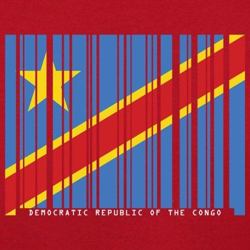 Democratic Republic of the Congo / Demokratische Republik Kongo Barcode Flagge - Herren T-Shirt - Rot - XXL