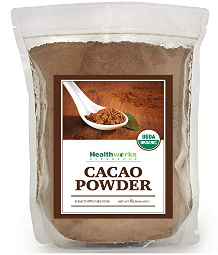 Healthworks Cacao Powder Organic 5 Pound