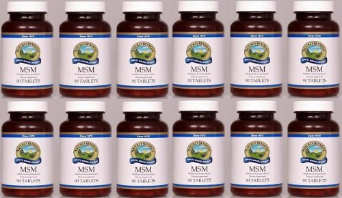 MSM, Dietary Supplement, Structural and Circulatory System Support (Pack of 12) 90 Tablets each by Nature's Sunshine