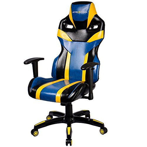 Gtracing Gaming Chair Pu Racing Chair Backrest And Height Adjustable