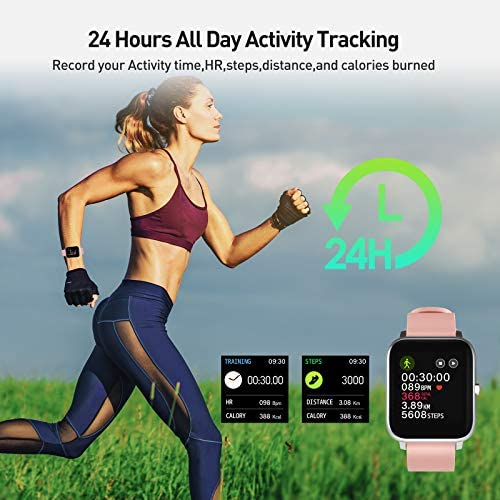 """Smart Watch, 1.4"""" Touch Screen Smartwatch,Fitness Tracker with Heart Rate Monitor, Sleep Monitor, Bluetooth Camera Music Control Smart Watch for Men Women 3"""