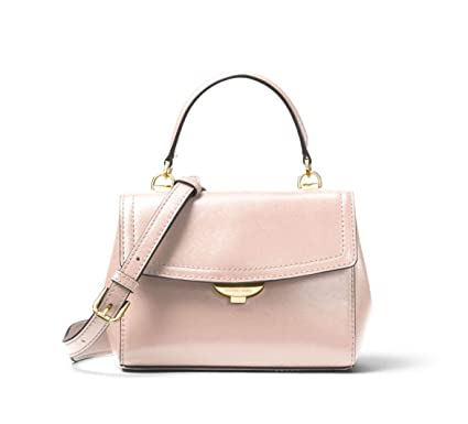 53052fe97eee Image Unavailable. Image not available for. Color: MICHAEL Michael Kors Ava  Extra-Small Leather Crossbody in Soft Pink