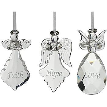 Amazoncom Glass Angel Ornaments  Set of 3 Mini Glass Angels
