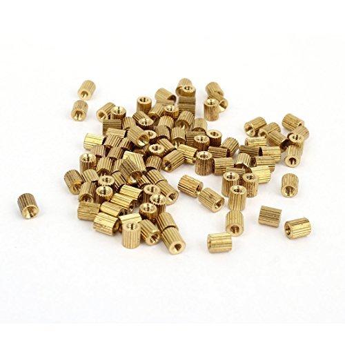 100 Pcs filetage femelle Pillars Brass Standoff Spacer Gold Tone M2x4mm DealMux DLM-B00R1IWHZU