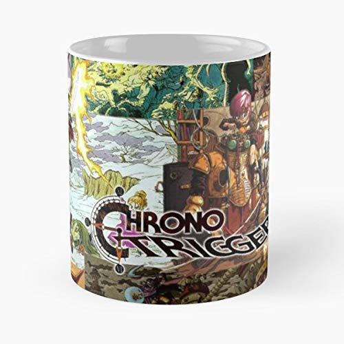 (Chrono Trigger Crono Ayla - 11 Oz Coffee Mugs Unique Ceramic Novelty Cup, The Best Gift For Holidays. )