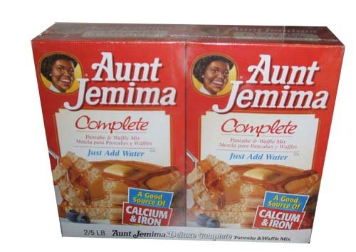Aunt Jemima Deluxe Complete Pancake and Waffle Mix Two 5 Pound - 5 Pancake Lb