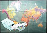 img - for Mercator paper folded wall map - package book / textbook / text book