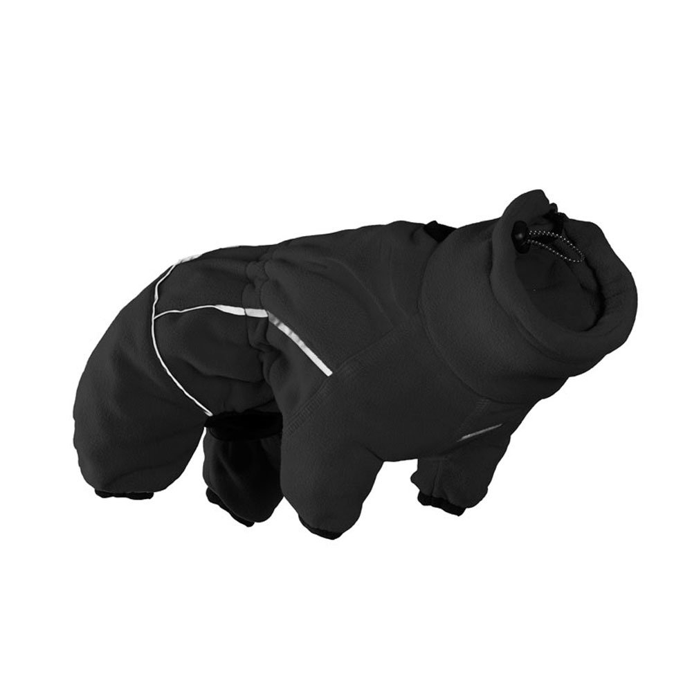 32 Hurta HU931100 Collection, Micro Fleece Jumper for Dogs, Black 32M