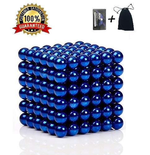 Brain Teaser,5MM 216-Pieces Cube Toy,Multidimensional Sculpture Building Blocks Toy for Children Intelligence Learning & Office Toy for Stress Relief,Best Christmas Gift for Kids or Adults, Blue 10 JTianYun