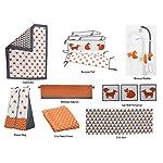 Bacati-Playful-Foxs-10-Piece-Crib-Set-Including-Bumper-Pad-OrangeGrey