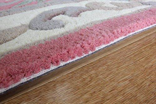 Luxury Pink Traditional Floral Design 100 Wool Half Moon Rug – 2 4 x 4 2 Half Moon