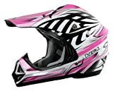 Vega Viper Kraze Graphic Junior Off-Road Helmet (Pink, Large)