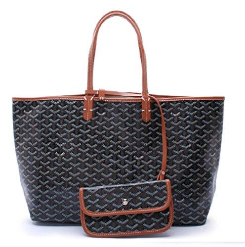 em-lady-tote-pu-leather-shoulder-bag-with-matching-wallet-black-brown