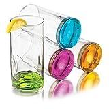 Libbey Impressions Colors Cooler Glass Set, 4-Piece