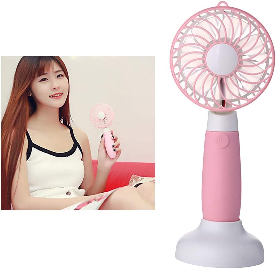 Blue UKCOCO Personal Hand-held Fan Portable Adjustable Mini USB Fan for Family Travel Outdoors
