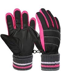 Boys Girls Winter Gloves Kids Ski Snow Snowboard Gloves...