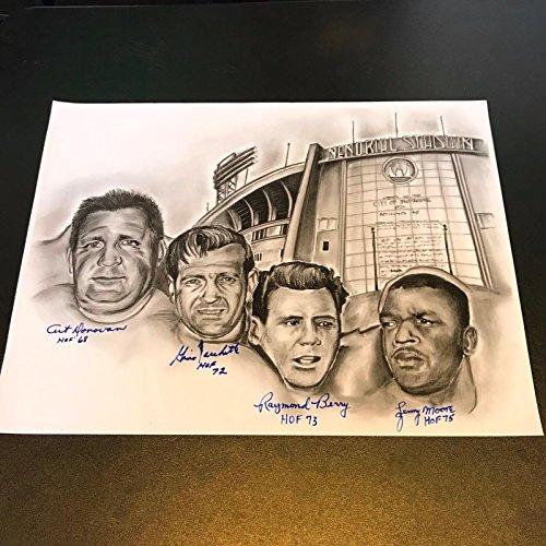 Art Donovan Raymond Berry Lenny Moore Gino Marchetti Signed Huge 18x24 Photo