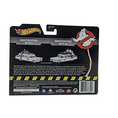 Hot Wheels, Classic Ghostbusters Ecto-1 and Ecto-1A Die-Cast Vehicle 2-Pack: Toys & Games