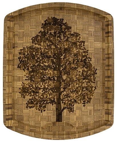 Totally Bamboo Wood Carving & Cutting Board, Natural Wooden,