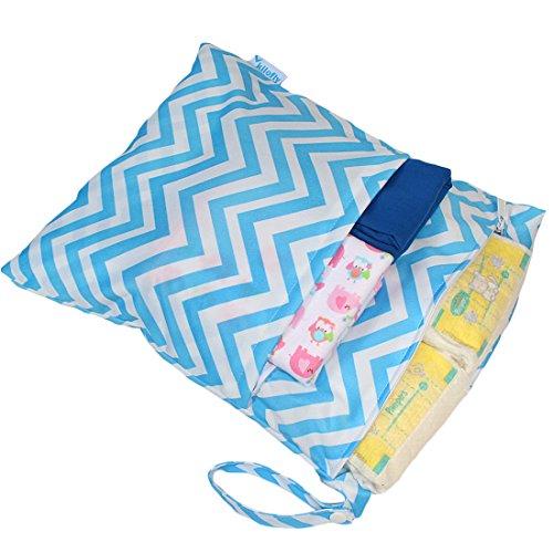 """KF bebé gran capacidad bolsa de pañales organizador 18""""+ Pañales mojado seco bolsa valor Combo rojo rosso Talla:18 inch azul"""