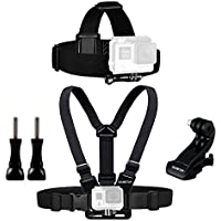 Sametop Chest Mount Harness Chesty + Head Mount Strap for Gopro Hero 5, 4, Session, 3+, 3, 2, 1 Cameras