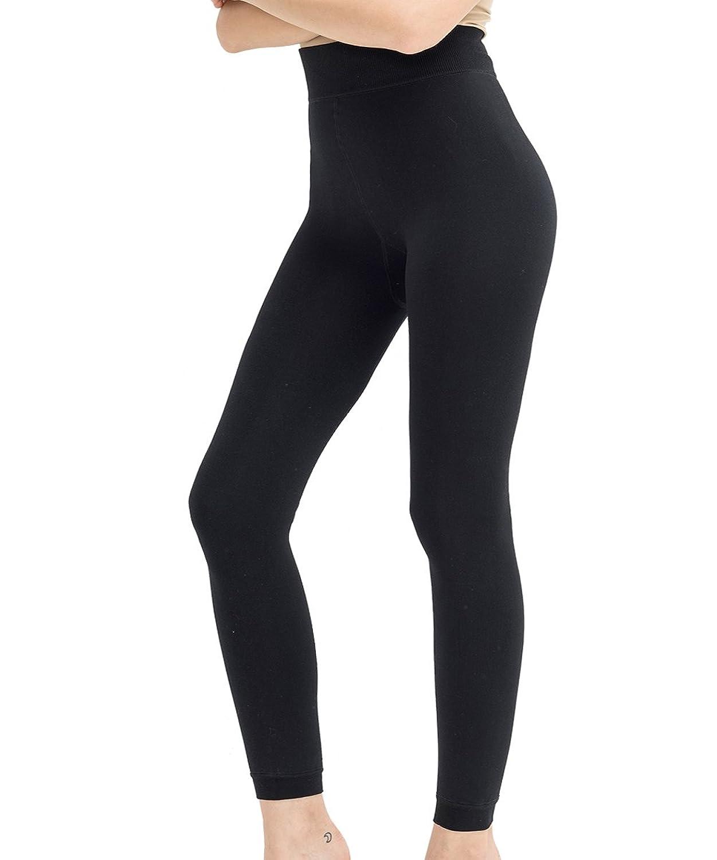 db5cf04c94928 on sale Lucky Commerce Women's Full Length Basic Leggings Free Seamless  Fleece Lined Leggings Pants 1